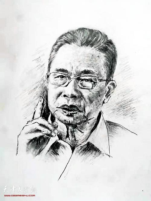 杨振河作品:《钟南山》   素描
