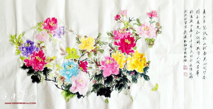 单润凤作品:《春将至》   中国画