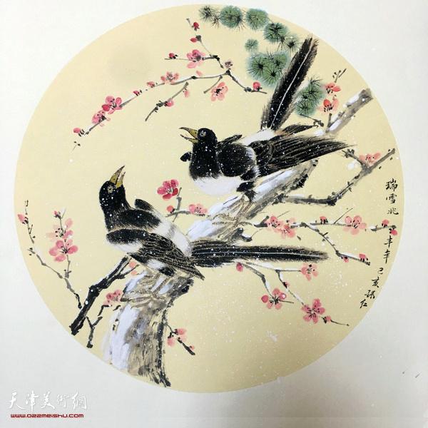 孙红《瑞雪兆丰年》  中国画