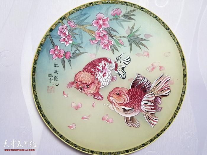 张晓宇作品:《红雨随心》中国画