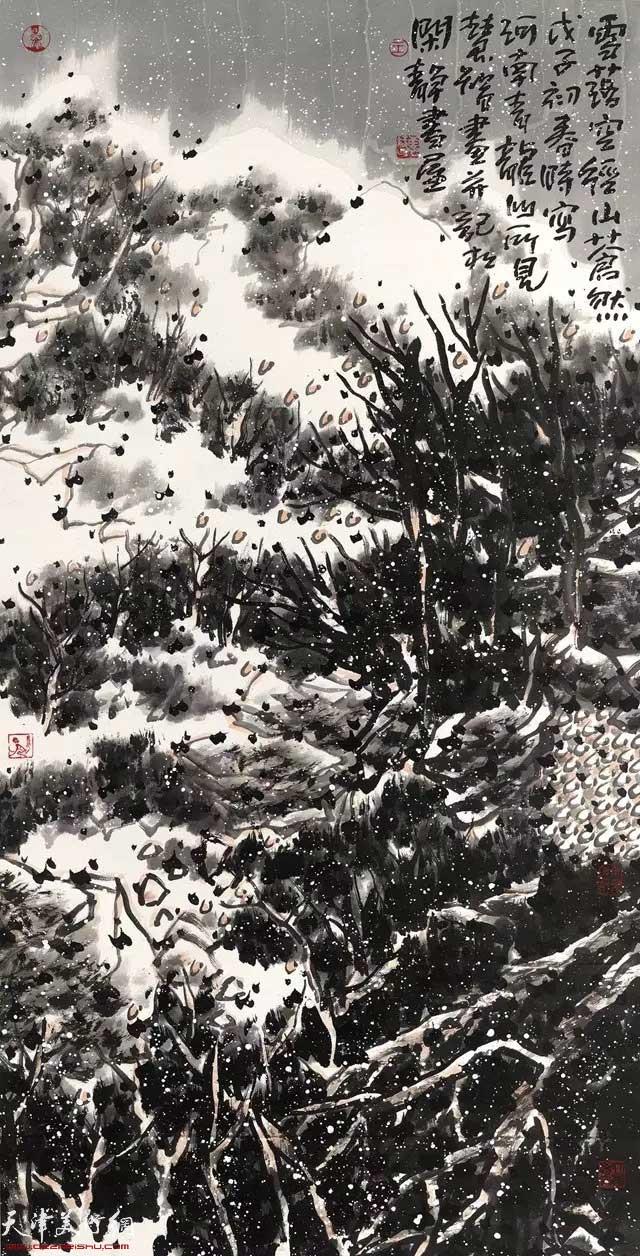 王慧智雪景作品:雪落空径山苍然