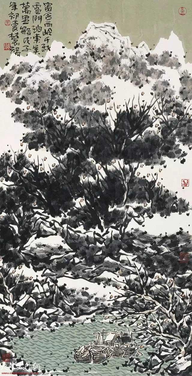 王慧智雪景作品:窗含西岭千秋雪 门泊东吴万里船