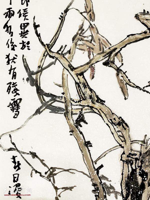 尹沧海新作:《春消息》 (局部)