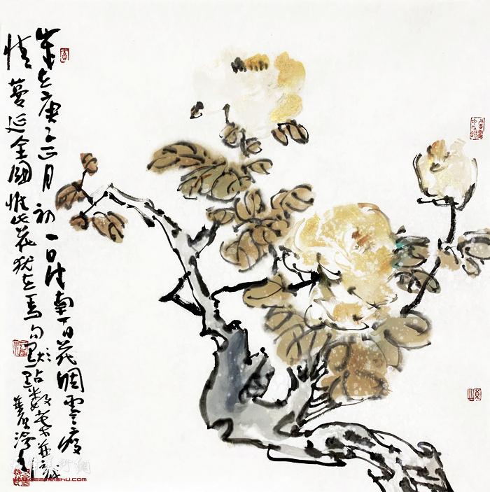 尹沧海新作:《 聊寄一枝春》