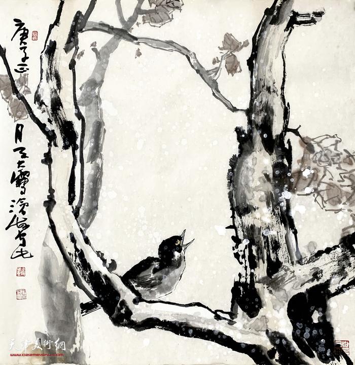 尹沧海新作:《报喜图》