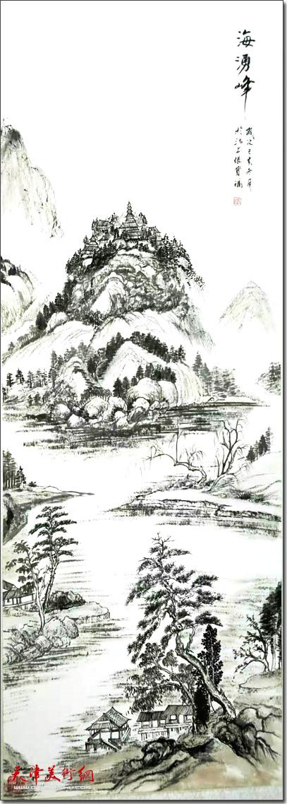 张宝福作品《海泳峰》