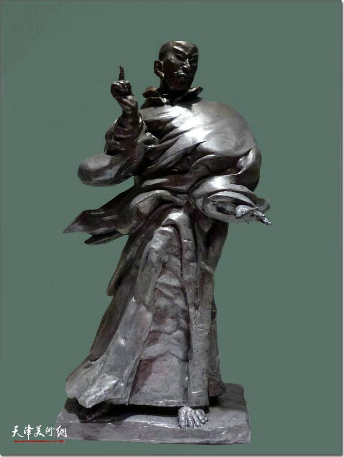 王海林作品:《六祖说法像》 (铸铜雕塑)