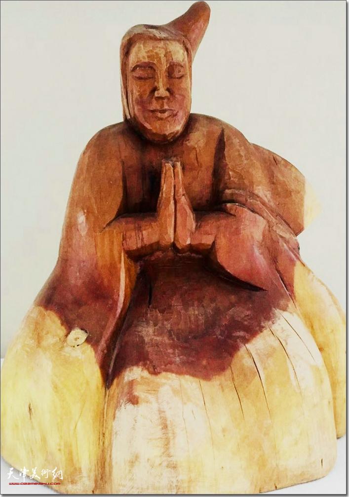 王海林作品《喇嘛像》 (木雕)