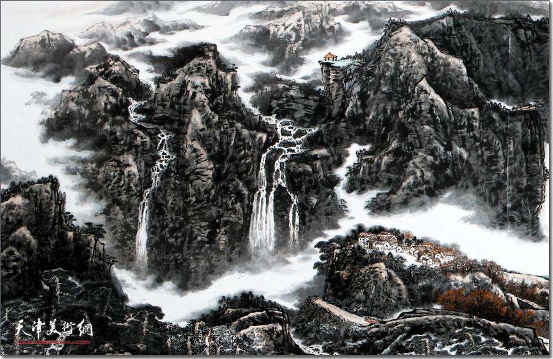 皮志刚先生作品《天下情山》 (局部)。