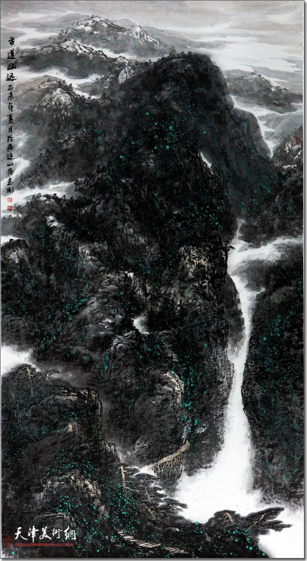 皮志刚先生作品《古道悠远》。