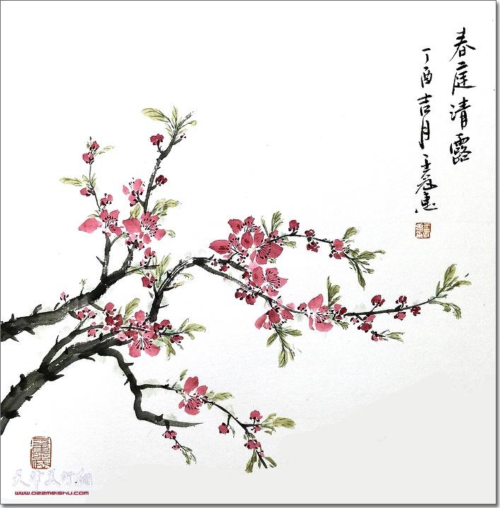 王冠惠作品:《春庭春露》