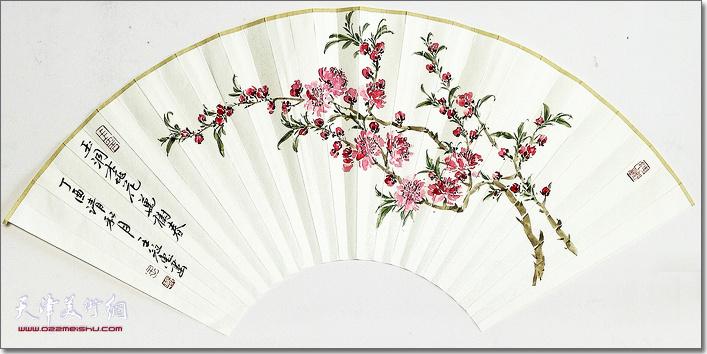 王冠惠作品:《玉润桃花万树春》