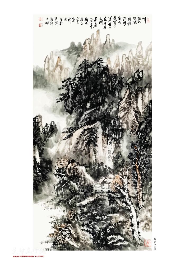 卢新利作品:《峰峦入眼关》
