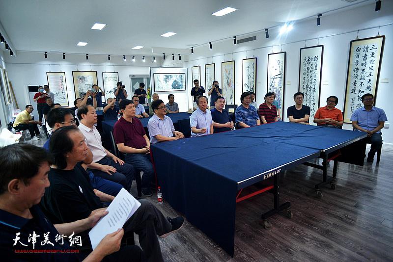 墨醉画馆开馆典礼在天津市河西区举行。