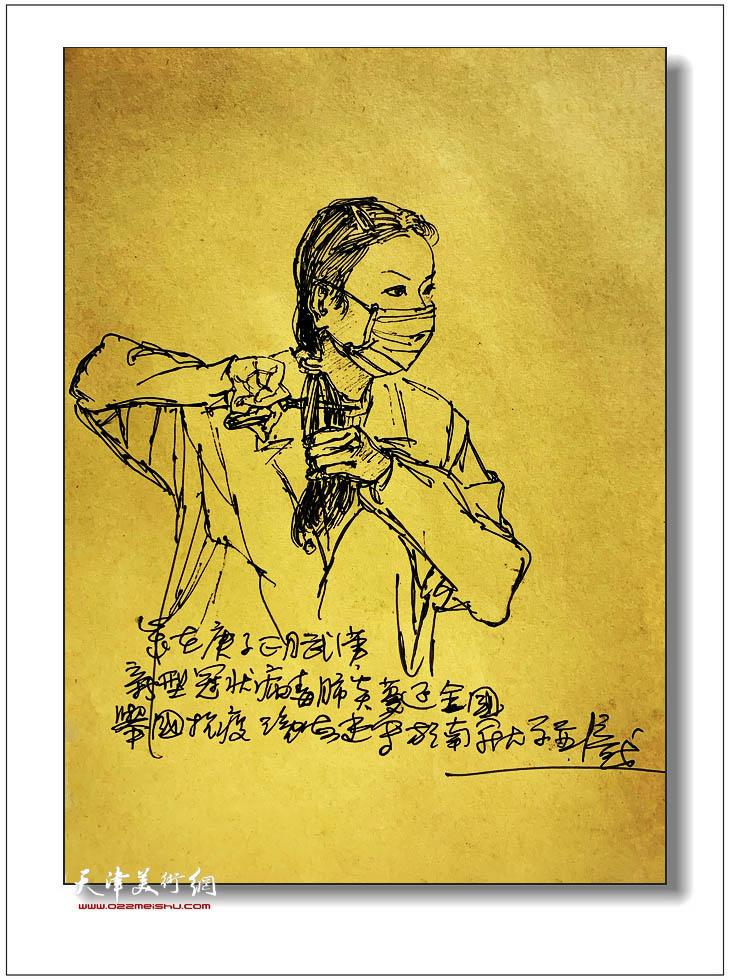 尹沧海速写:女护士