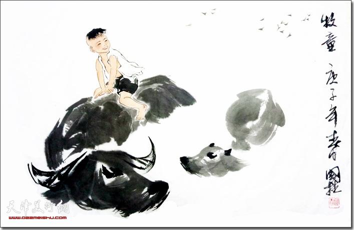 刘国柱作品:牧童