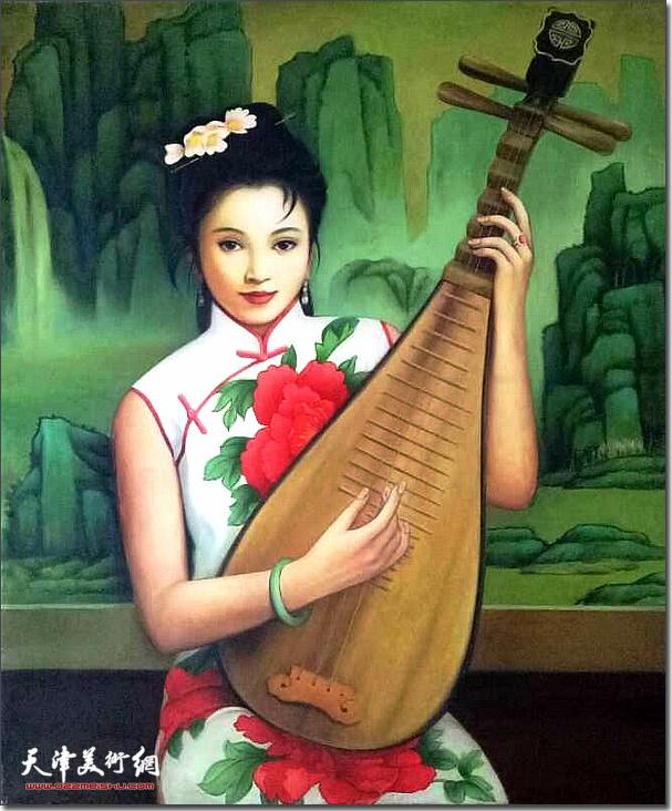 刘国柱作品:琴韵