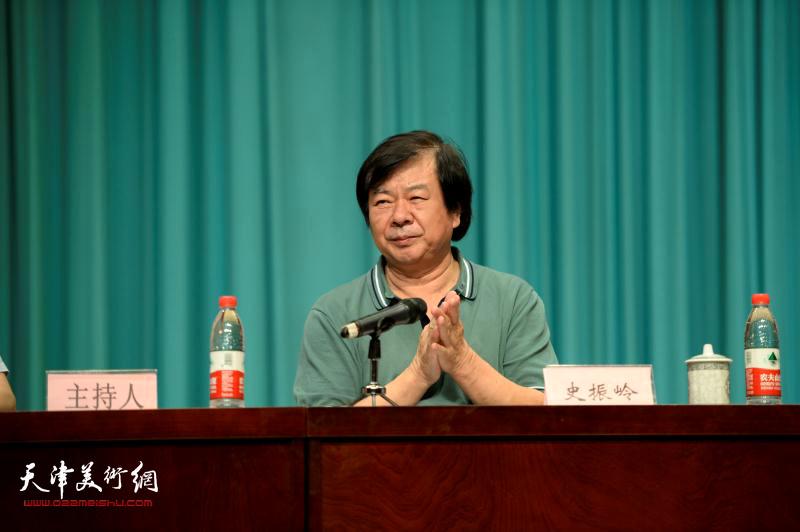 著名花鸟画家史振岭当选首届津南区美术家协会主席。