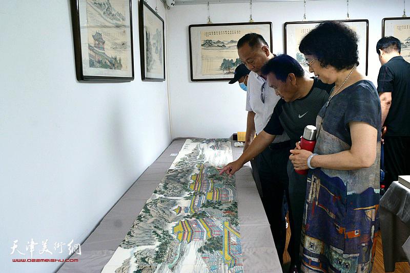 定观自在,缘起性空—李家尧写经界画山水作品展现场。