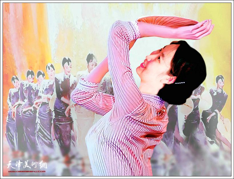 霍然作品:《清夏扇舞》。