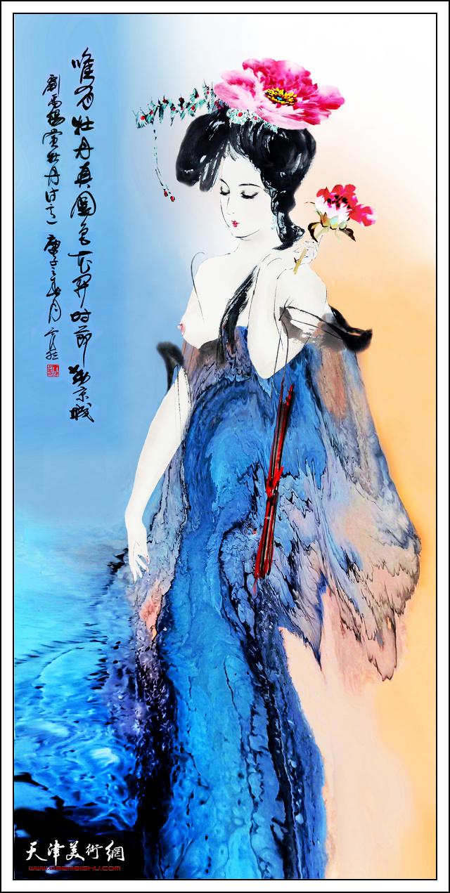 霍然作品:《花开时节动京城》。