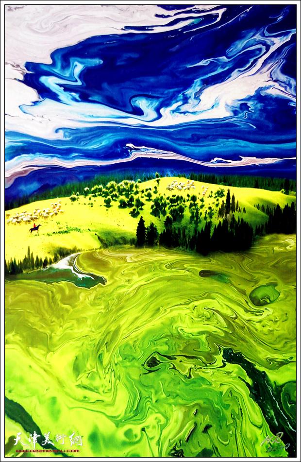 霍然作品:《苍茫天地间》。