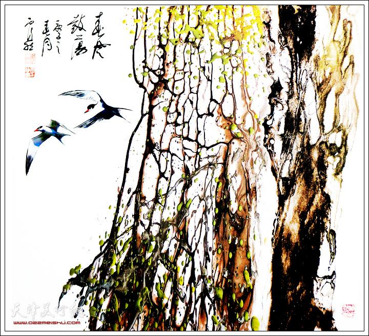 霍然作品:《春风鼓荡》。