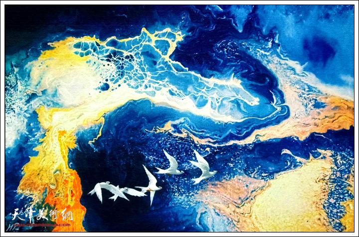 霍然作品:《翱翔南海》。