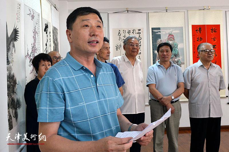 画展开幕仪式由天津长城书画院秘书长、北京洛德时代文化产业发展有限公司副总裁王勇主持。