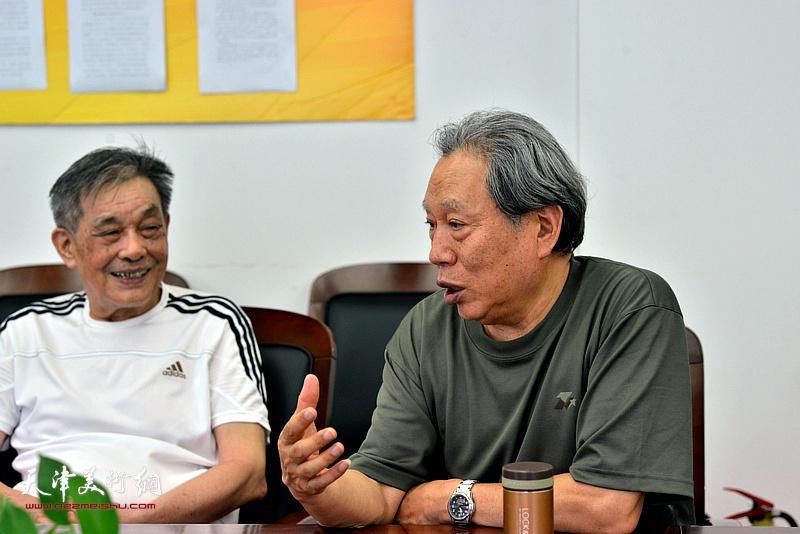 """""""军威雄壮气如虹——作品网展""""座谈会现场。"""