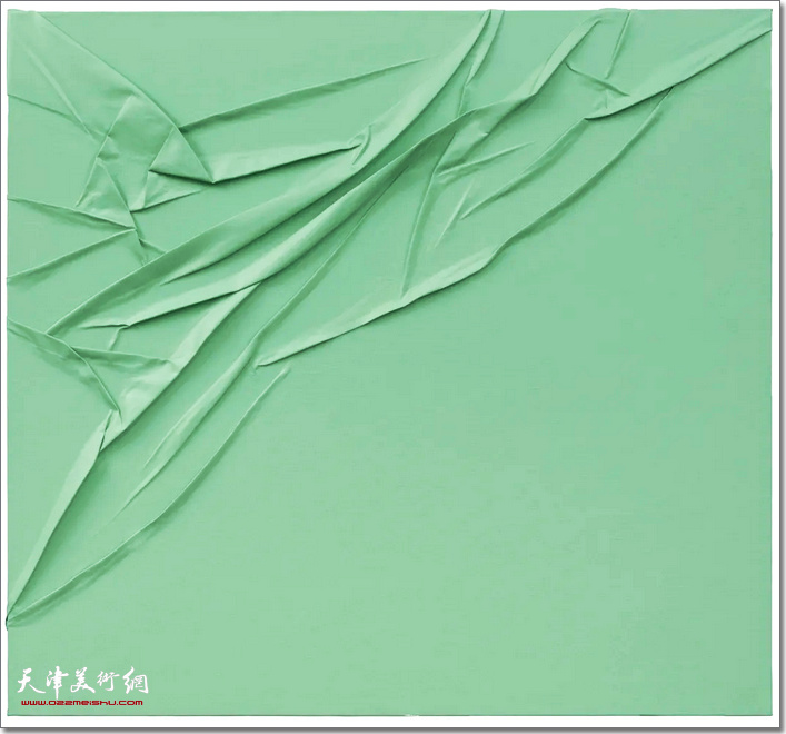维相系列之碧,布面丙烯,120×130 cm,2020