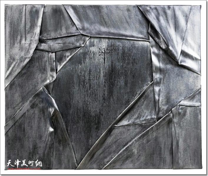 维相系列之质 NO.1,布面丙烯,60×70 cm,2019