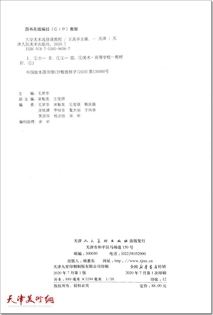 《大学美术——选修课教程》书影