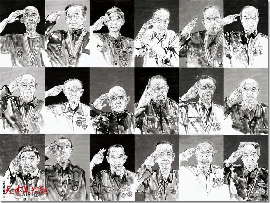 天津商业大学艺术学院教师梁健:《老兵——军礼》