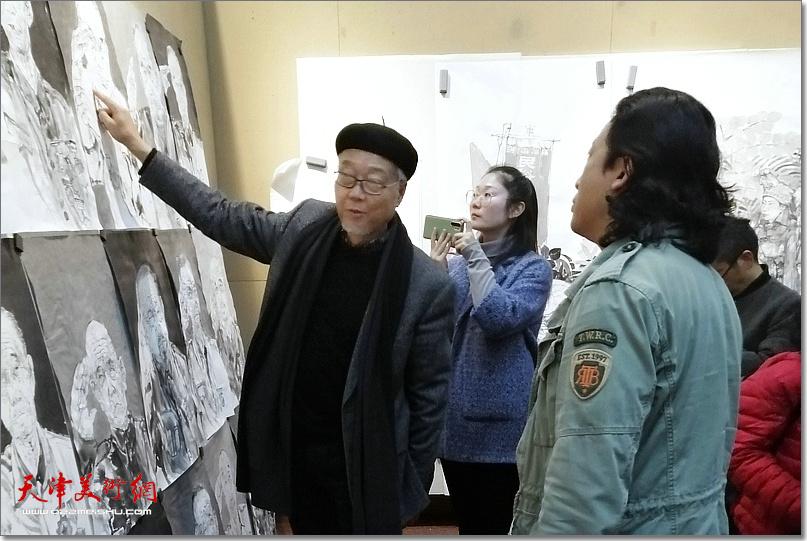 陈孟昕先生指导《老兵——军礼》创作。