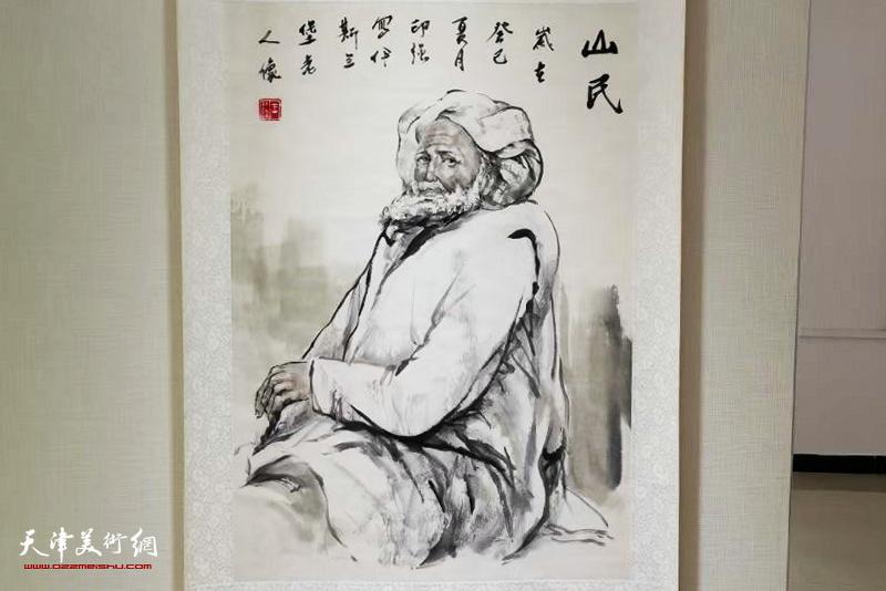 """""""庆国庆、迎中秋——王印强书画展""""展出的王印强作品。"""