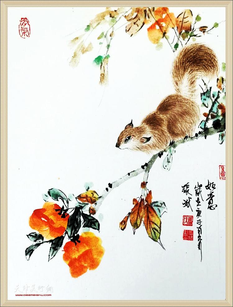 张斌花鸟画作品