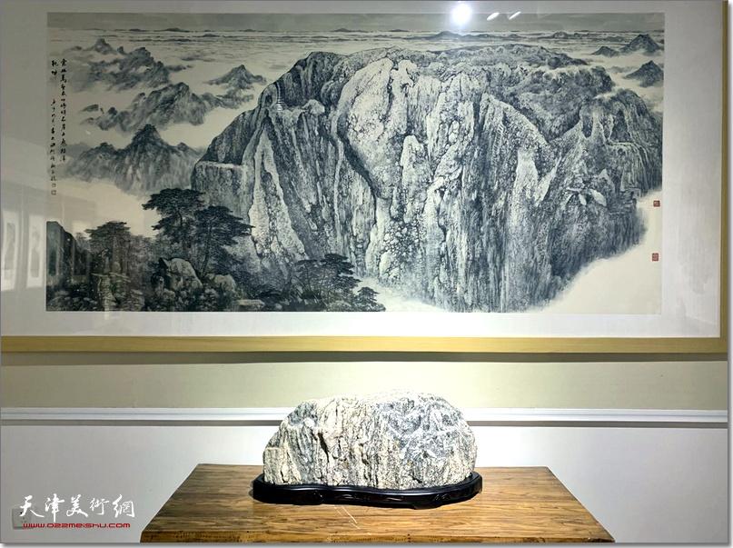 陈钢奇石山水绘画作品