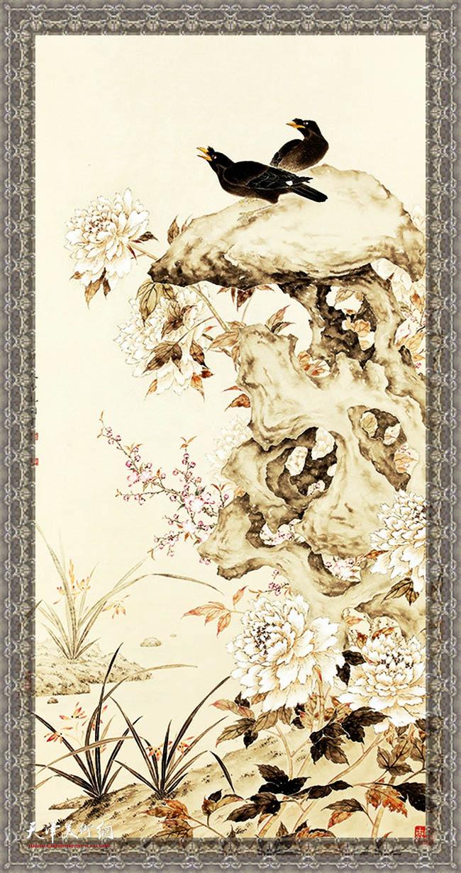 天津著名画家李锐钧作品。