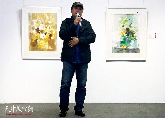 上海市美术家协会水彩粉画艺术委员会主任平龙先生致辞