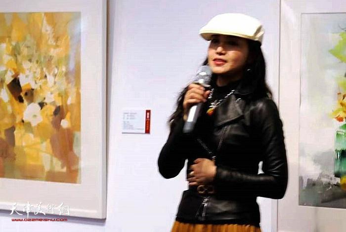 《画聚》艺术平台创始人洪桂军女士致辞