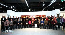 """""""灵鼠兆丰年""""中国第十三届生肖画及国画优秀作品展在河西区美术馆开幕"""