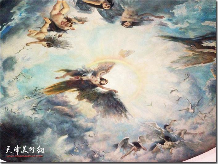 秦征油画:《穹顶画——精卫填海》 (领衔合作 上世纪80年代)