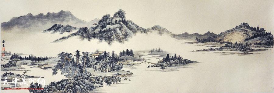 天津青年画家刘观岳水墨画作品