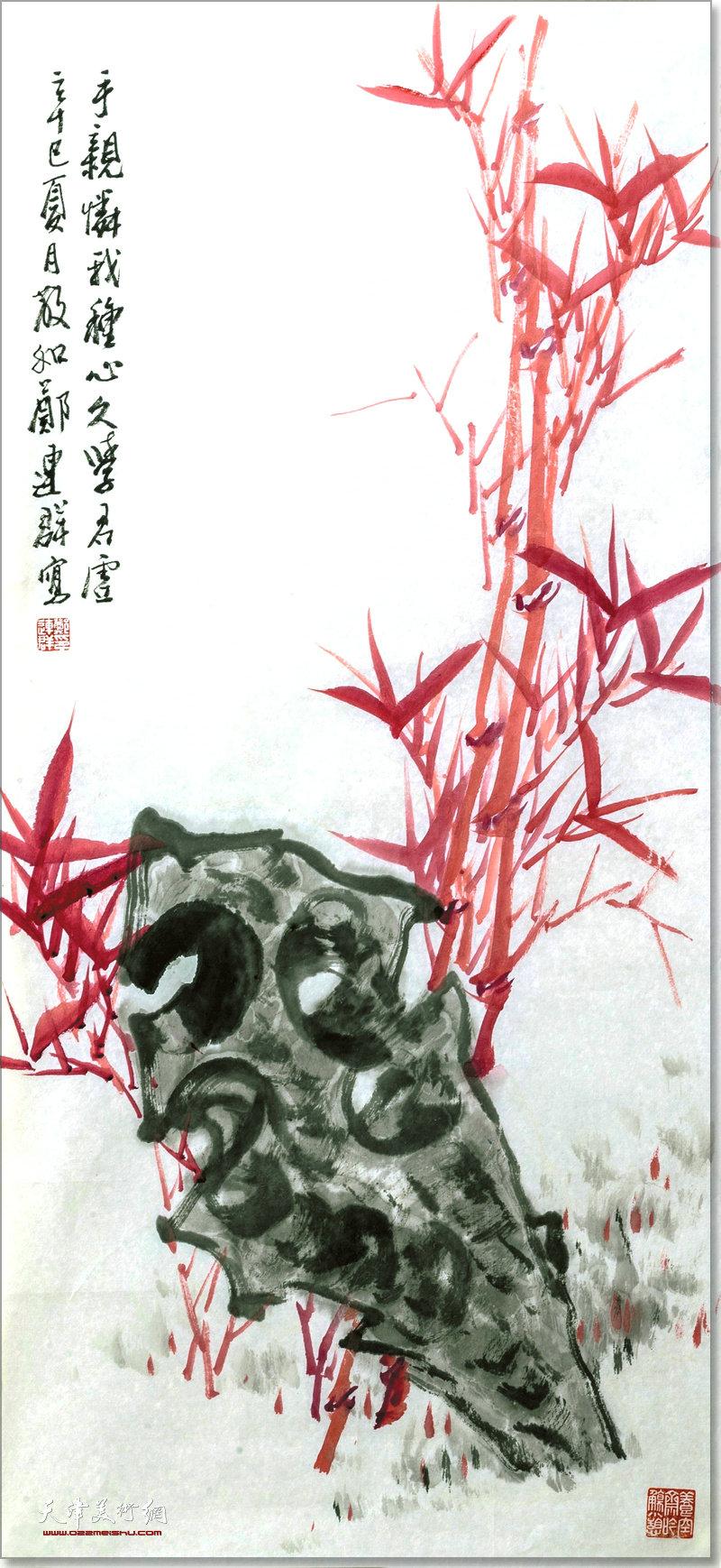 郑连群作品:竹