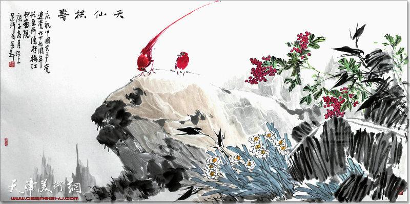 张运河作品:天仙拱寿