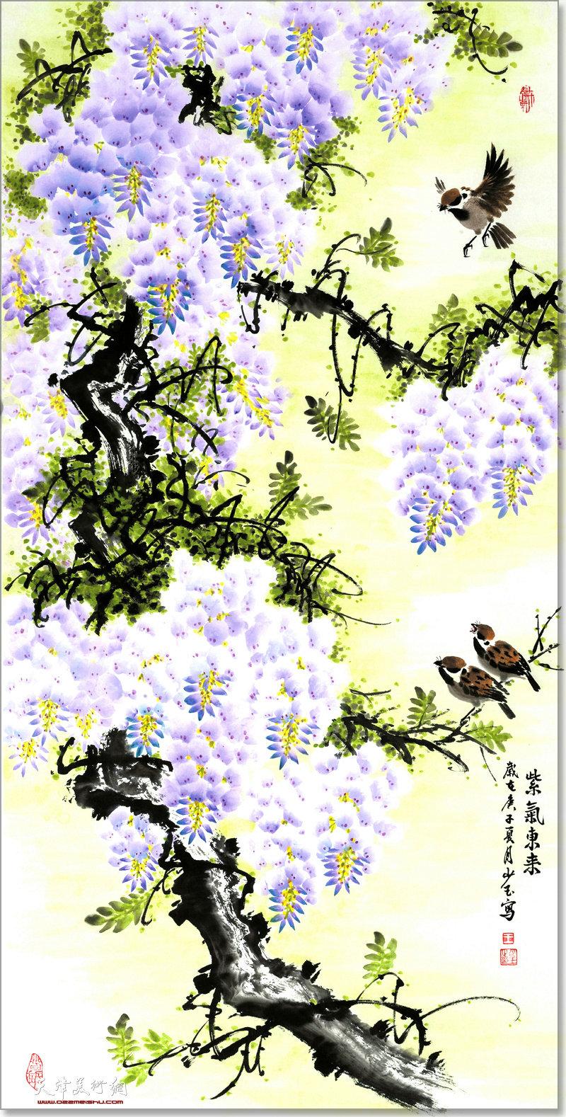 王少玉作品:紫气东来