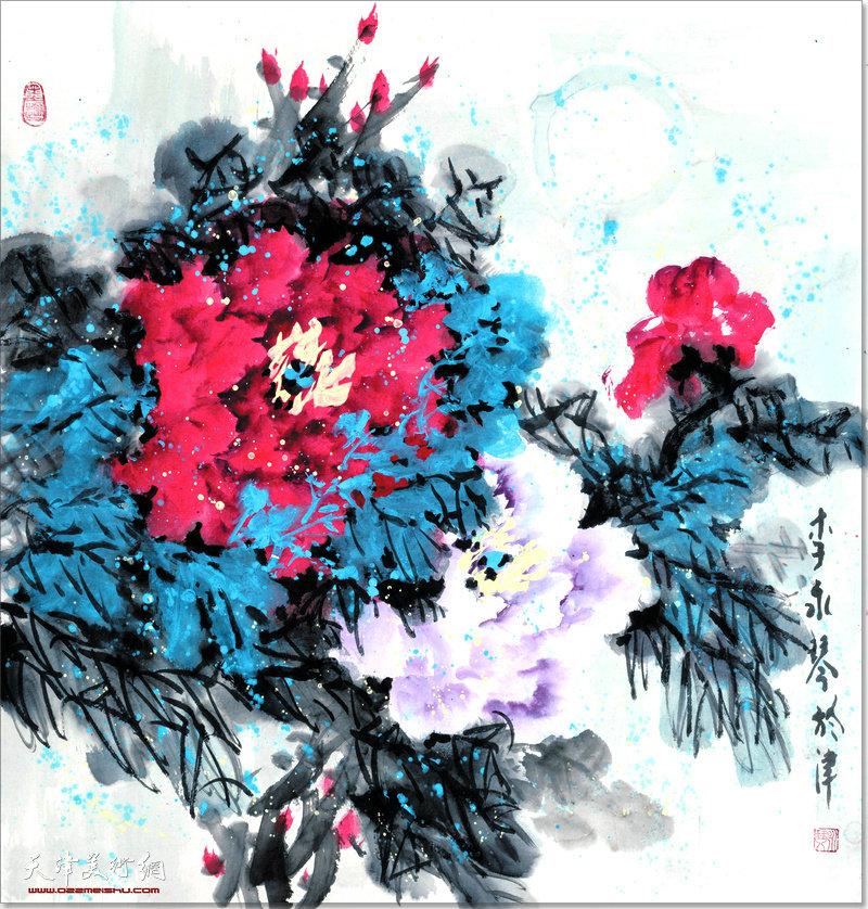 李永琴作品:牡丹春色