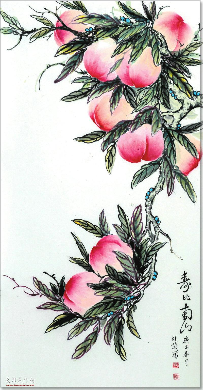 王桂兰作品:寿比南山