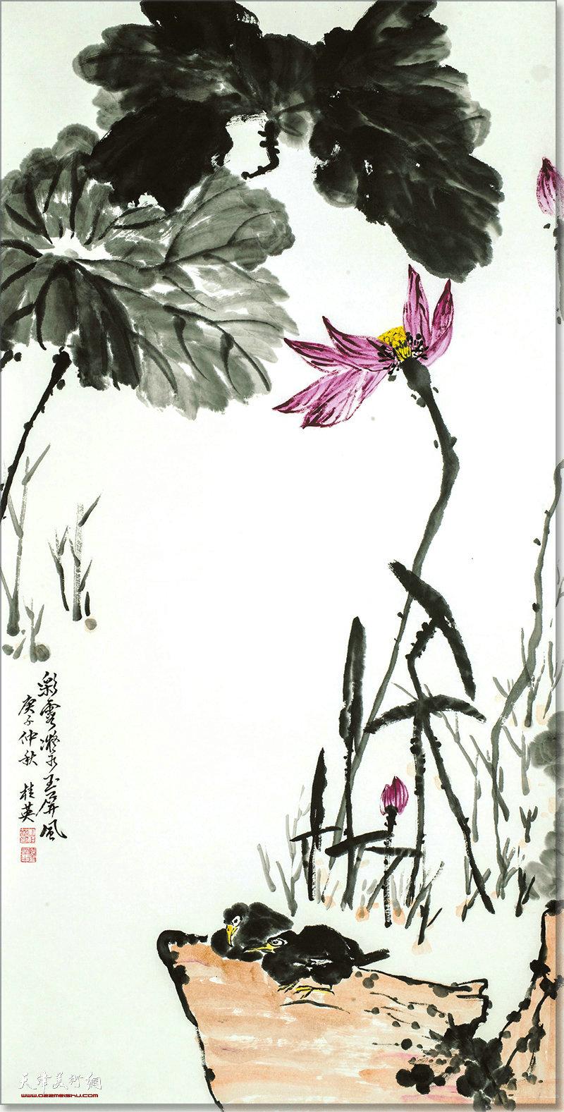 刘桂英作品:彩云凝水玉屏风
